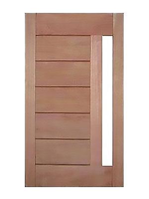 Porta de madeira Mapaf BBB vidro lateral