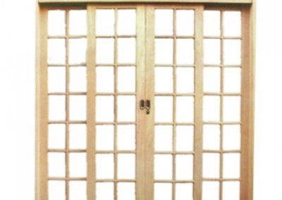Porta de Correr Arco Quadriculada 4 Folhas Casmavi
