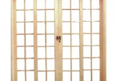 Porta de Correr Reta Quadriculada 4 Folhas Casmavi