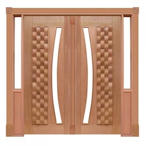Portal Pivotante - 055 - Couro para Vidro em Arco Casmavi