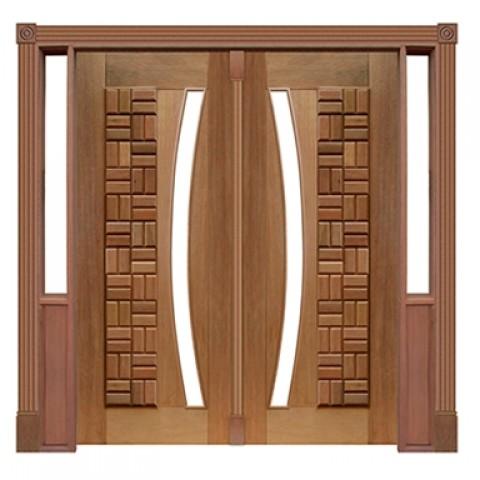 Portal Pivotante - 075 - Clássica para Vidro em Arco Casmavi