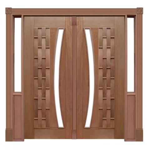 Portal Pivotante - 115 - Couro Longo para Vidro em Arco Casmavi