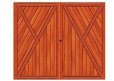 portao de madeira MR16 - madeireira rezende