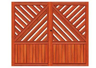 portao de madeira MR17 - madeireira rezende