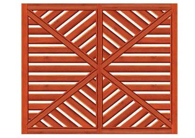 portao de madeira MR19 - madeireira rezende
