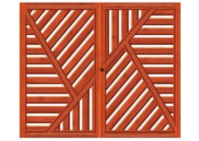 portao de madeira MR20 - madeireira rezende