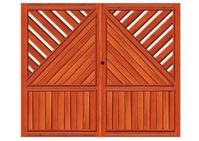 portao de madeira MR23 - madeireira rezende