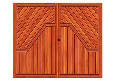 portao de madeira MR31 - madeireira rezende