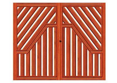 portao de madeira MR33 - madeireira rezende