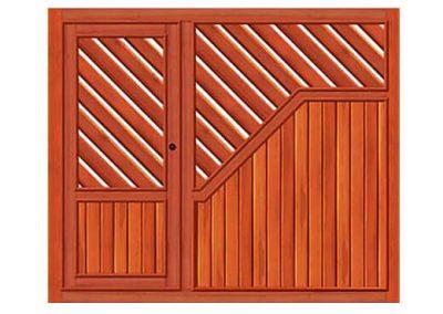 portao de madeira MR34 - madeireira rezende
