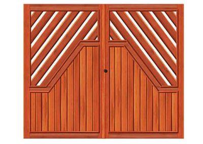 portao de madeira MR35 - madeireira rezende