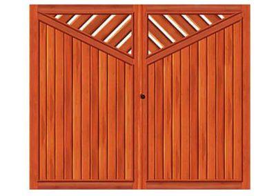 portao de madeira MR38 - madeireira rezende