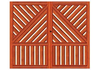 portao de madeira MR43 - madeireira rezende