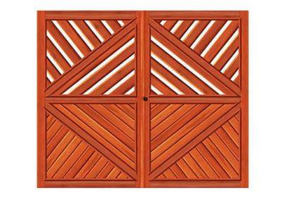 portao de madeira MR51 - madeireira rezende