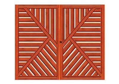 portao de madeira MR52 - madeireira rezende