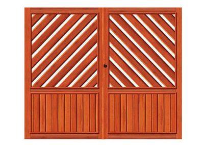 portao de madeira MR55 - madeireira rezende