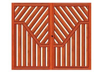 portao de madeira MR57 - madeireira rezende