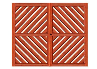 portao de madeira MR9 - madeireira rezende